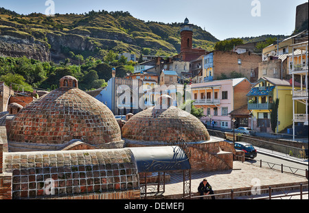 brick domed Sulfur Baths, Tbilisi, Georgia - Stock Photo