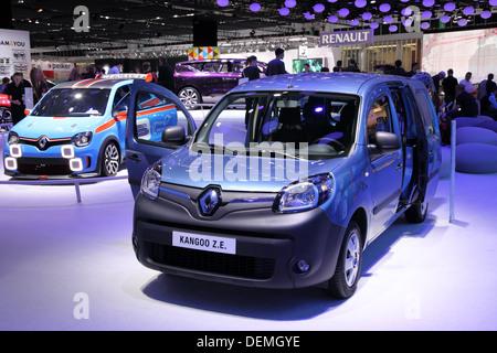 Renault  Kangoo Z.E Electric Car at the 65th IAA in Frankfurt, Germany - Stock Photo