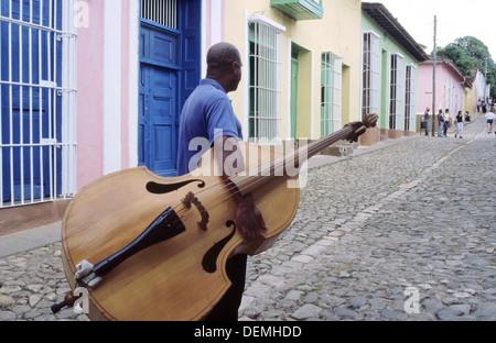 Musician. Trinidad, Cuba. - Stock Photo