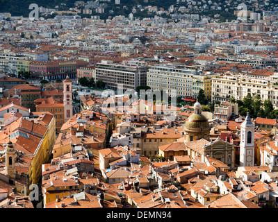 Nice, France - where the old town meets the new - Stock Photo
