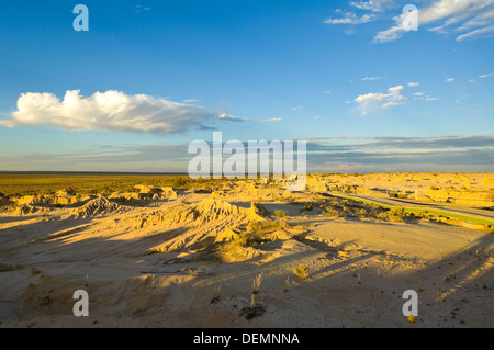 The Lunette, Mungo National Park, New South Wales, Australia - Stock Photo