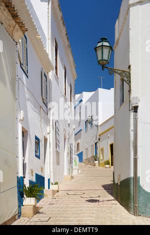 Albufeira old town, Algarve, Portugal - Stock Photo