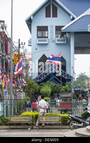 The border between Thailand and Myanmar at Mae Sai Thailand - Stock Photo