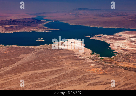 Lake Mead Nevada and Arizona USA from the air. JMH5491 - Stock Photo
