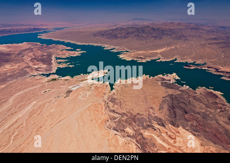 Lake Mead Nevada and Arizona USA from the air. JMH5492 - Stock Photo