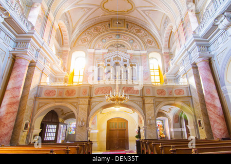Holy Trinity Catholic church in Sibiu Hermannstadt (Sibiu) interior view - Stock Photo