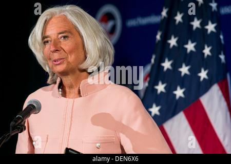 Christine Lagarde, Managing Director of the International Monetary Fund (IMF).  - Stock Photo