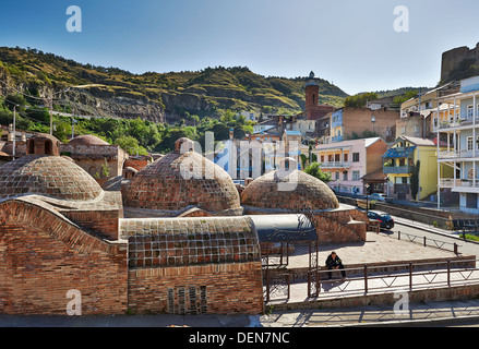 brick domed Sulfur Baths, Tbilisi, Georgia - Stock Photo