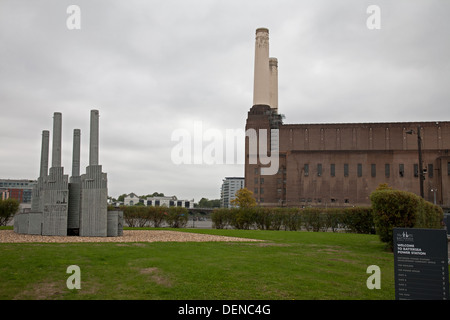 Battersea Power Station, London, England, open to the public during the open house weekend 2013, for the last time - Stock Photo