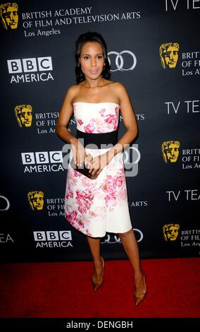 Kerry Washington at arrivals for BAFTA Los Angeles Pre-Emmy TV Tea Party, SLS Hotel, Los Angeles, CA September 21, - Stock Photo