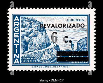 Postage stamp from Argentina depicting Zapata Slope, Catamarca. - Stock Photo