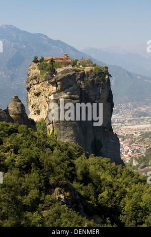 Meteora Hanging Monastery of the Holy Trinity (Agia Triada), Greece. - Stock Photo