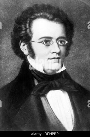 Franz Schubert, Austrian composer - Stock Photo