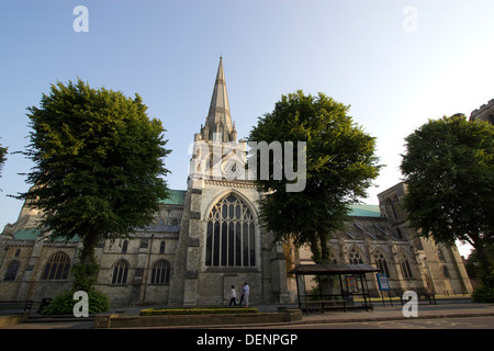 Northern face/side of Chichester Cathedral in West Sussex UK - Stock Photo