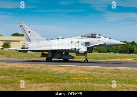 Eurofighter; Typhoon F2; Royal Air Force;Biggin Hill Airshow; Biggin Hill; Kent; England; UK; Europe; - Stock Photo