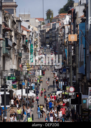 Rua de Santa Catarina (street) in Porto, Portugal, Europe - Stock Photo