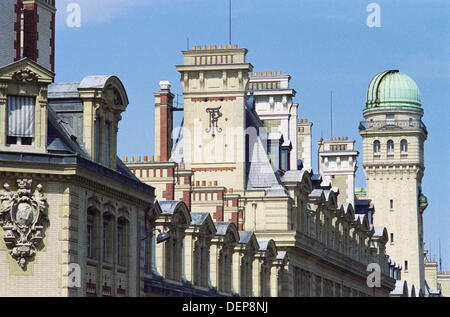 Tower with Observatory at the Sorbonne University, Paris, France - Stock Photo