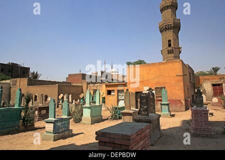 City of the Dead, and mosque of Muhammad Ali of Egypt at citadel Cairo. Egypt - Stock Photo