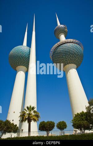 Kuwait Towers, Kuwait city - Stock Photo
