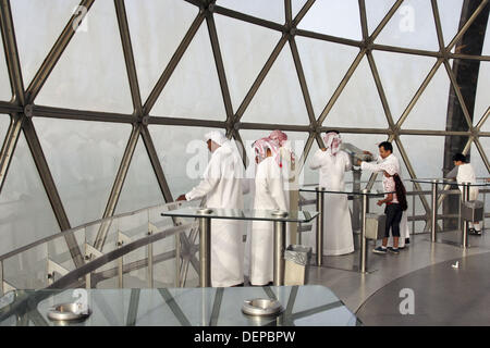 visitors in Kuwait Towers - Stock Photo