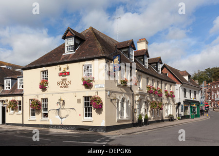 The Swan Hotel in Arundel, West Sussex, England - Stock Photo