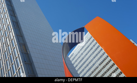 Highrises at Hotorget, Stockholm. Sweden - Stock Photo