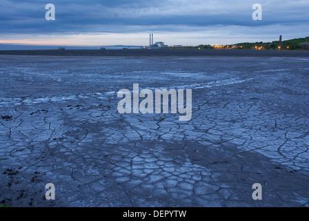 Ash disposal area, Cockenzie Power plant, East Lothian, Scotland, UK, Europe - Stock Photo