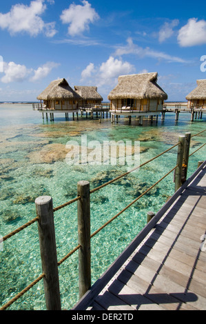 Pearl Beach Resort, Tikehau, Tuamotu Archipelago, French Polynesia. - Stock Photo