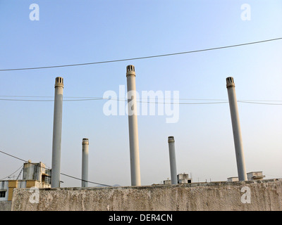 Close up of a gas outlets for drain pipes. Pune, Maharashtra, India. - Stock Photo