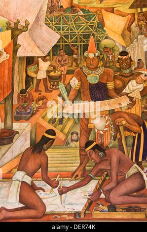 The history of mexico 1929 1935 diego rivera fresco for Diego rivera s most famous mural