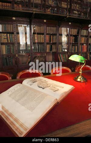 Library of the Royal Academy of Medicine, madrid, spain - Stock Photo