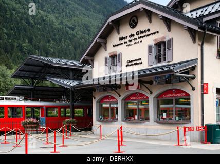 Montenvers Train Station, Chamonix, French Alps - Stock Photo