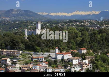 the village of Villeneuve Loubet Alpes-Maritimes 06 PACA France Europe - Stock Photo