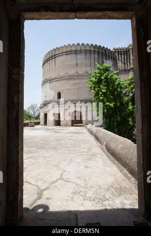 Ruins of a fort, Bhadra Fort, Ahmedabad, Gujarat, India - Stock Photo