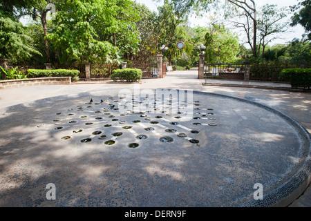 Entrance gate of a garden, Law Garden, Ahmedabad, Gujarat, India - Stock Photo