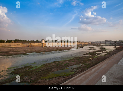 Sabarmati Riverfront, Ahmedabad, Gujarat, India - Stock Photo