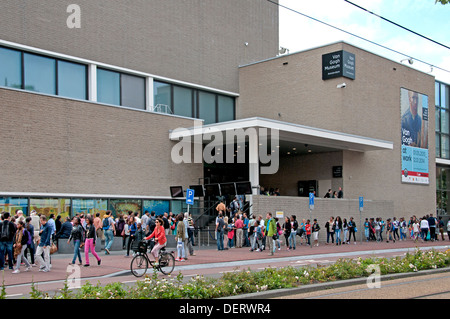 Entrance to Van Gogh museum Amsterdam Netherlands - Stock Photo