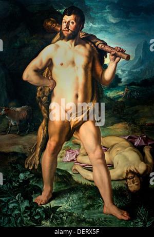 Hercules and Cacus 1613 Hendrick Goltzius 1558 - 1617 Dutch Netherlands - Stock Photo