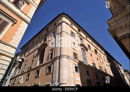 italy, rome, palazzo di propaganda fide - Stock Photo