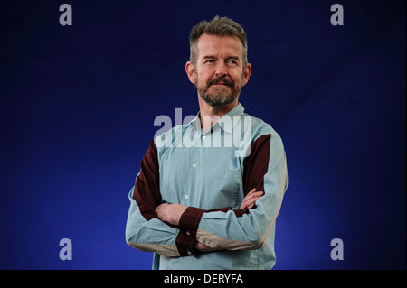 Adam Mars-Jones, British novelist and critic, attending at the Edinburgh International Book Festival, Sunday 11th - Stock Photo