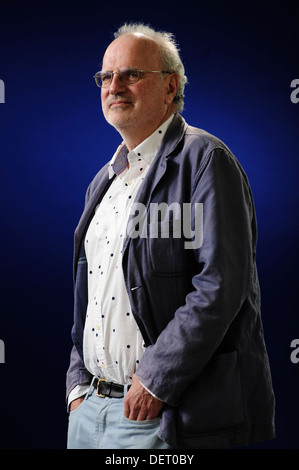 Michael Jacobs, American writer and producer, attending the Edinburgh International Book Festival, Monday 12th August - Stock Photo