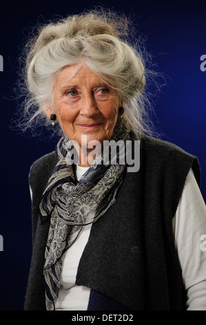 Phyllida Law, Scottish actress, attending the Edinburgh International Book Festival, Tuesday 13th August 2013. - Stock Photo