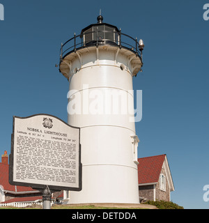 Nobska Lighthouse in the village of Woods Hole, town of Falmouth, on Cape Cod Massachusetts, USA . - Stock Photo