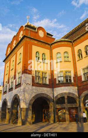 Town Hall at Trg Republike square in central Subotica Serbia Europe - Stock Photo