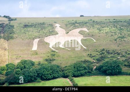 The Osmington White Horse - Stock Photo