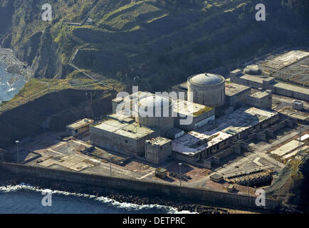 Unfnished nuclear Power Plant, Lemoiz, Biscay, Basque country, Spain - Stock Photo