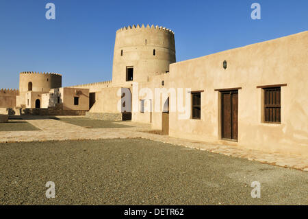 RM, licensed, no property release  -  editorial only. historic adobe fortification Liwa Fort or Castle, Batinah - Stock Photo