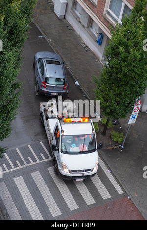 car being towed - Stock Photo