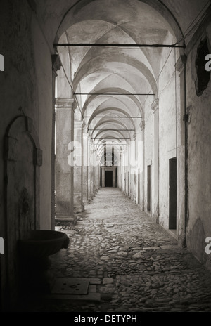 Certosa di (Monastery of) San Lorenzo at Padula, Campania in Southern Italy - Stock Photo