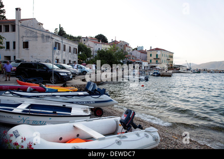 Valun at dask, island of Cres, Croatia - Stock Photo